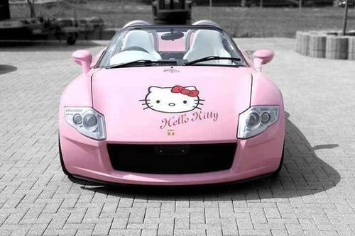 carro hello kitty