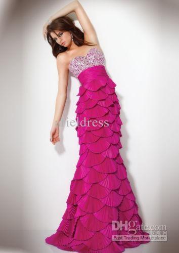 vestido sereia escamas rosa