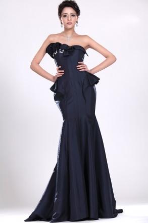 vestido sereia peplum