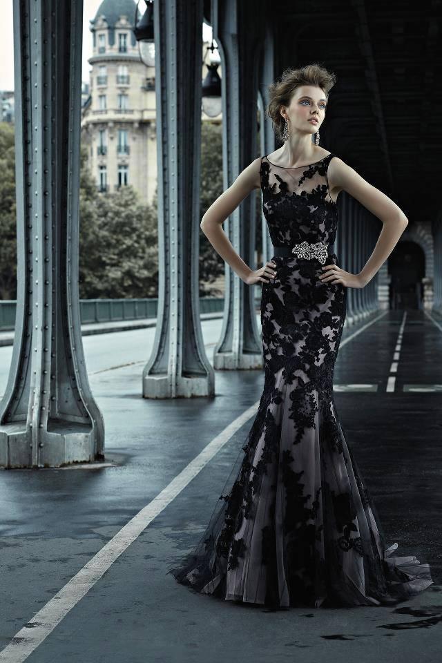 vestido sereia renda