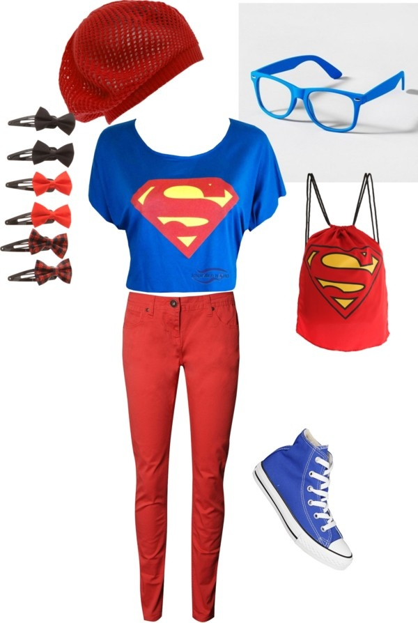 calça vermelha superman