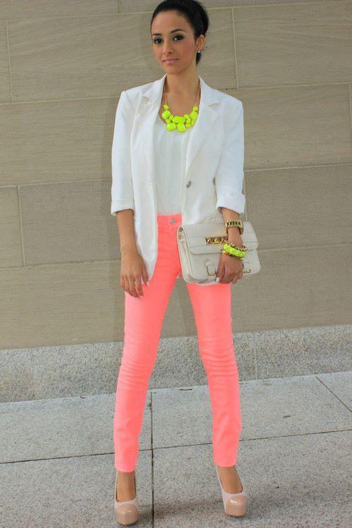calça coloda rosa