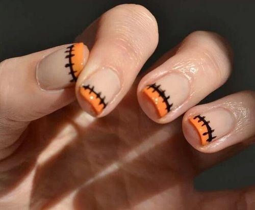 unha corte laranja