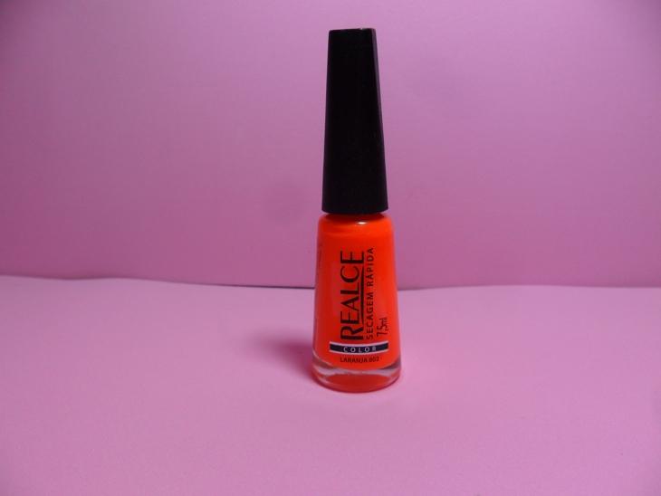 esmalte laranja forte