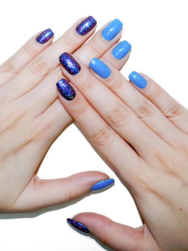 homa azul com glitter