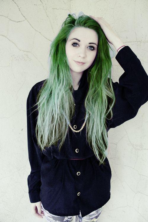 cabelo verde degradê