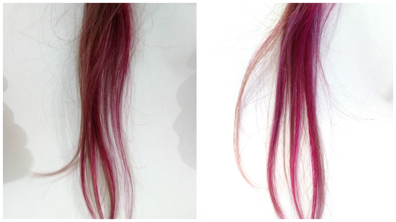 montagem cabelo rosa