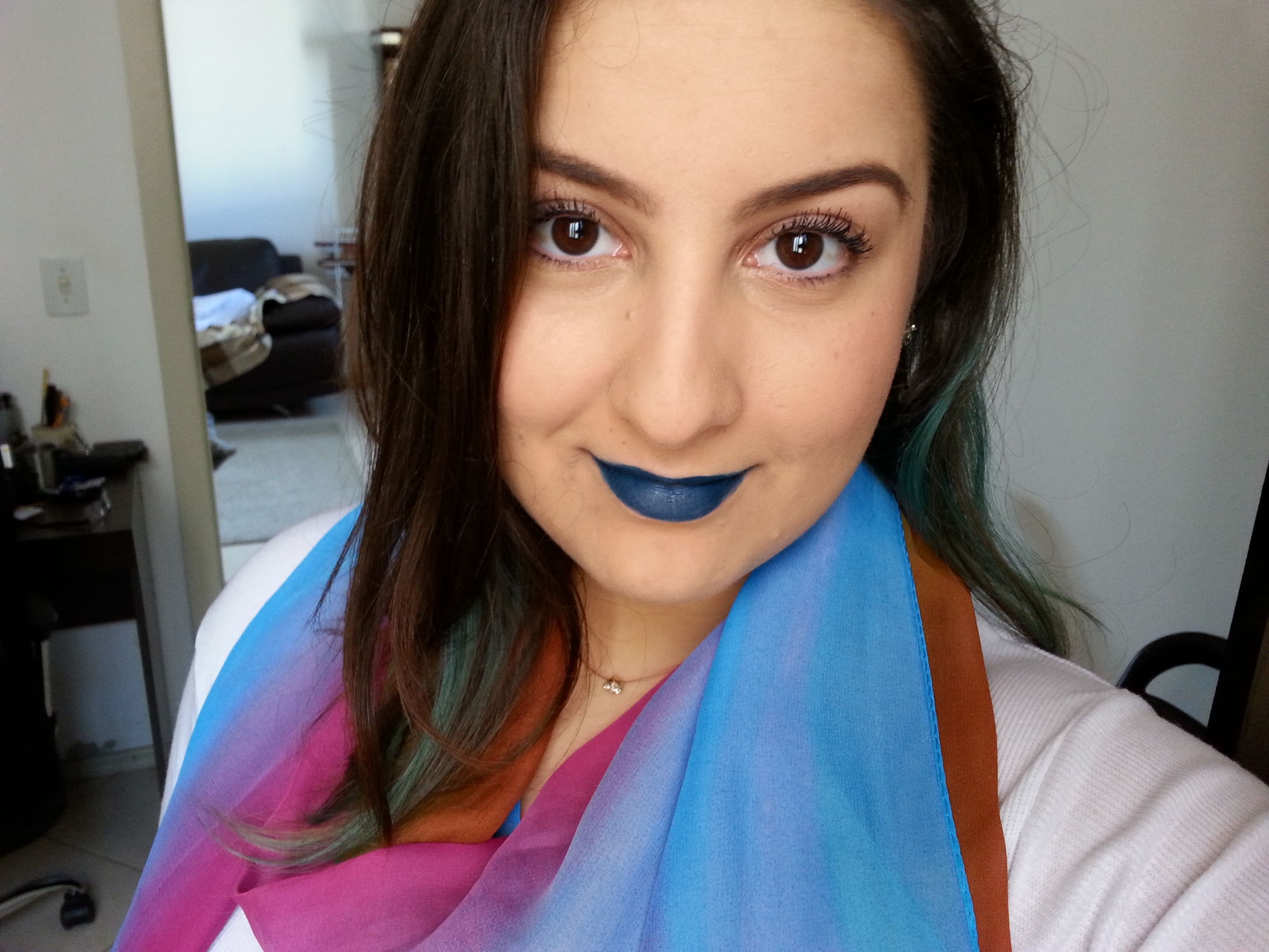 batom azul matte lip aliexpress