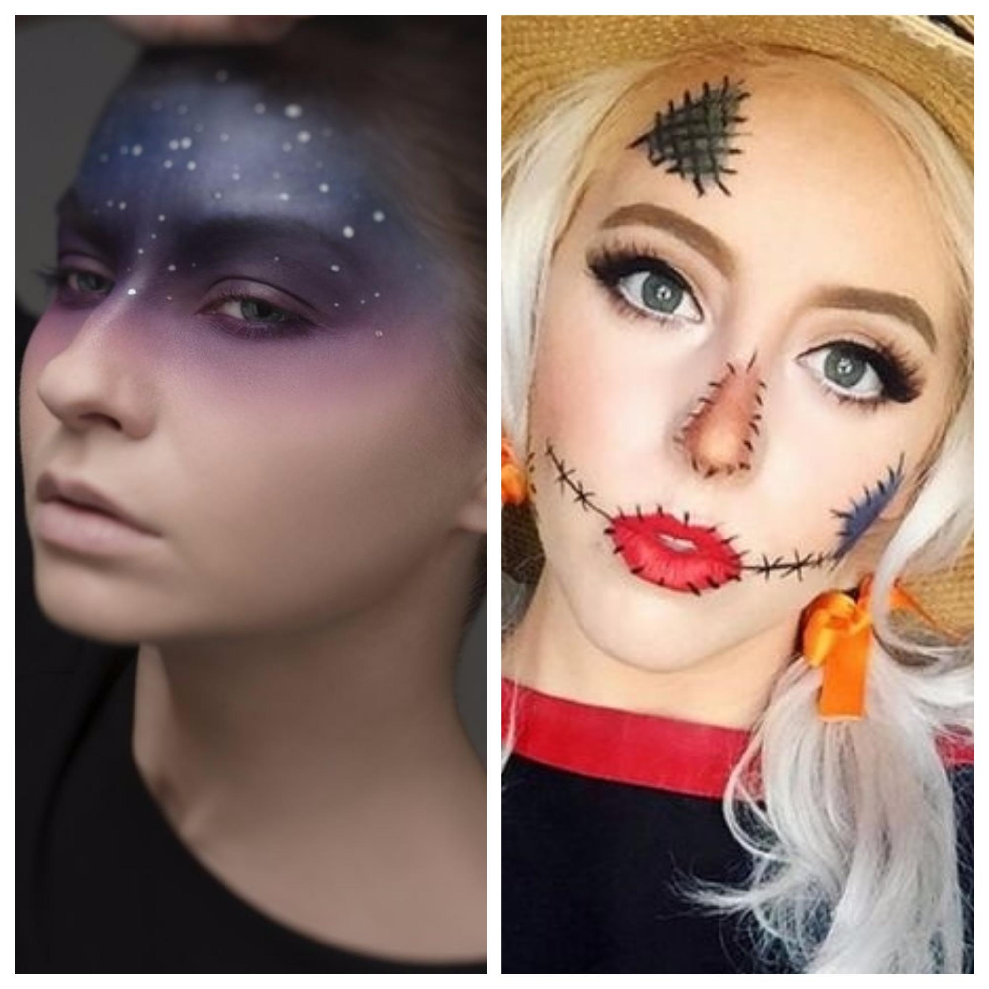 espantalho maquiagens halloween